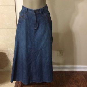 Ralph Lauren Beaded Denim Skirt 4